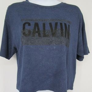 Calvin Klein Jeans Short Sleeve Cropped Top XS